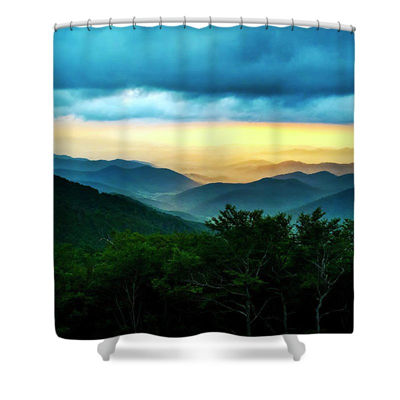 Blue Ridge Mountains Shower Curtain featuring the photograph Gray Mountain by Ken Howard