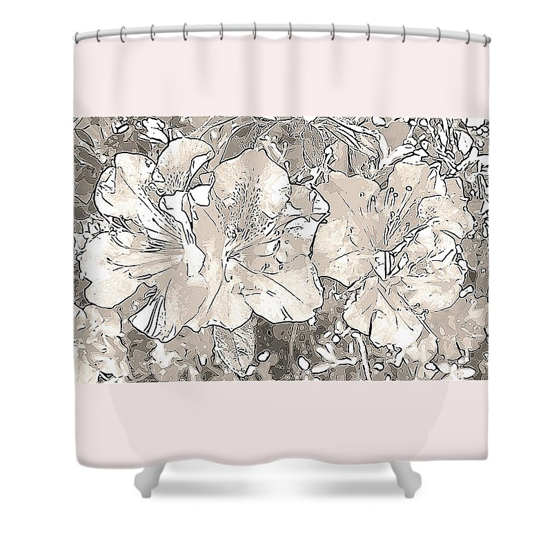 Photography Shower Curtain featuring the digital art Grayscale Bevy Of Beauties With Sepia Tones by Marian Bell