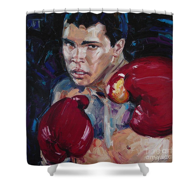 Figurative Shower Curtain featuring the painting Great Ali by Sergey Ignatenko