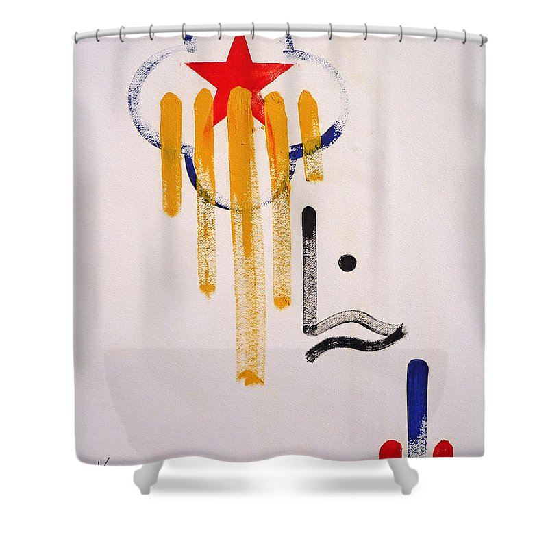 Drawing Shower Curtain featuring the painting Great American Image by Charles Stuart