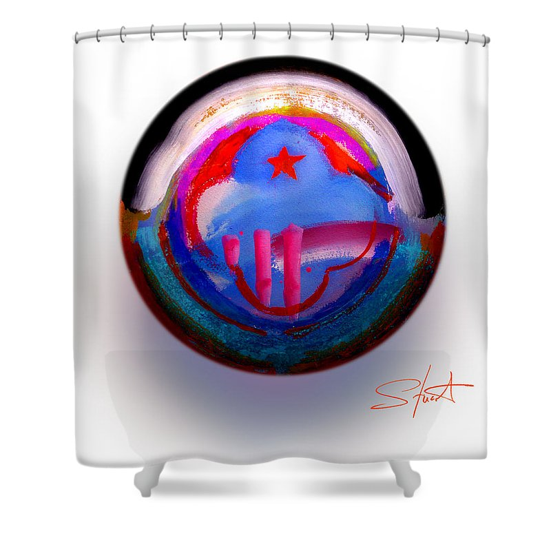 9/11 Shower Curtain featuring the painting Great Glad Morning by Charles Stuart