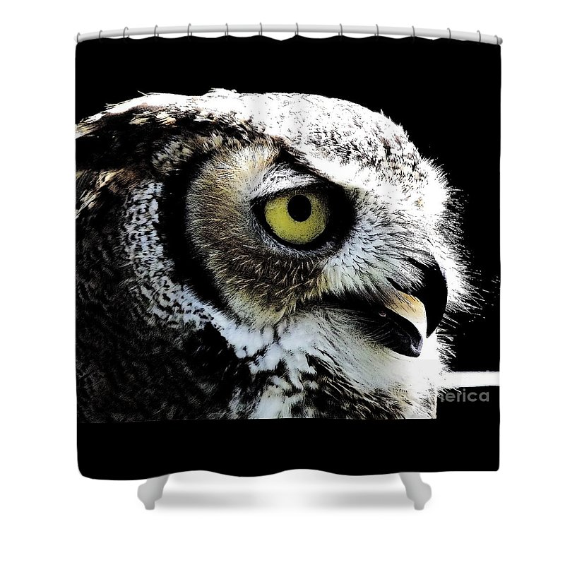 Great-horned Owl Shower Curtain featuring the photograph Great Horned Owl by Rose Santuci-Sofranko