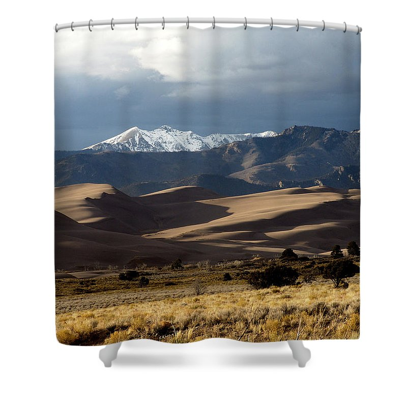 Sand Shower Curtain featuring the photograph Great Sand Dunes National Park by Carol Milisen