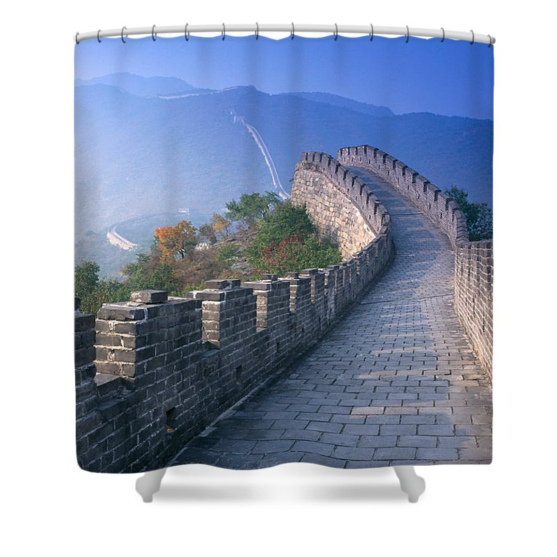 Asian Art Shower Curtain featuring the photograph Great Wall Of China by Gloria and Richard Maschmeyer - Printscapes