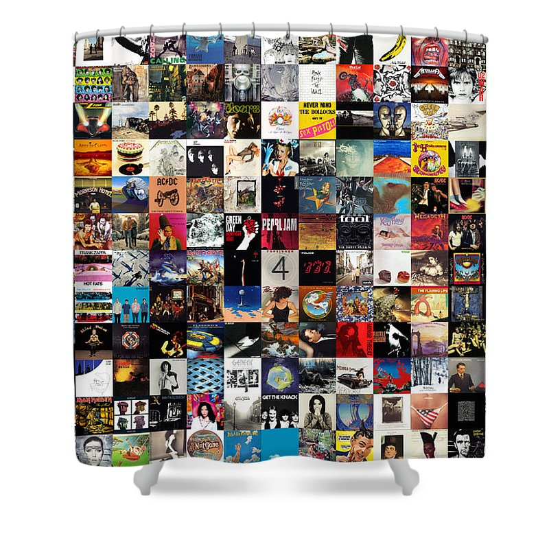 Album Covers Shower Curtain Featuring The Digital Art Greatest Of All Time By Zapista