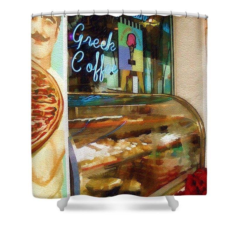 Greek Shower Curtain featuring the photograph Greek Coffee by Sandy MacGowan