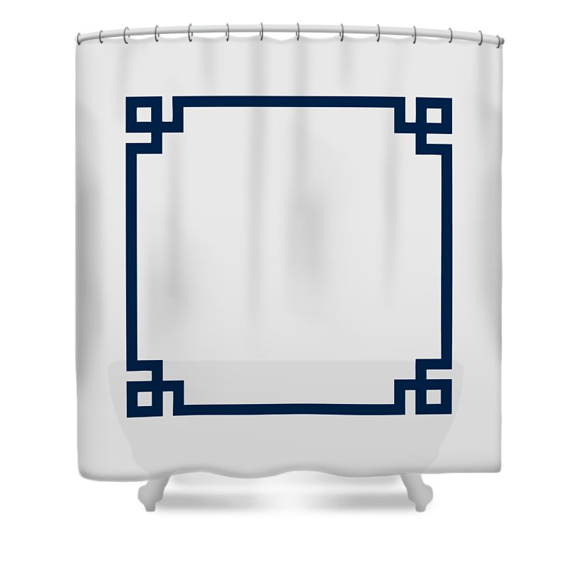 Greek Key Shower Curtain Featuring The Digital Art Border