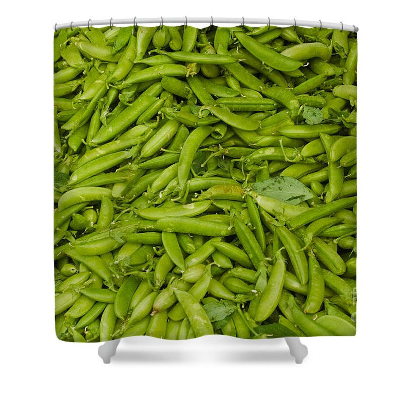Green Shower Curtain featuring the photograph Green Beans by Thomas Marchessault