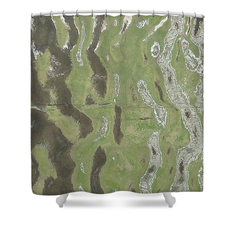 This Image Is A Journey In Natures Green Shower Curtain Featuring The Mixed Media