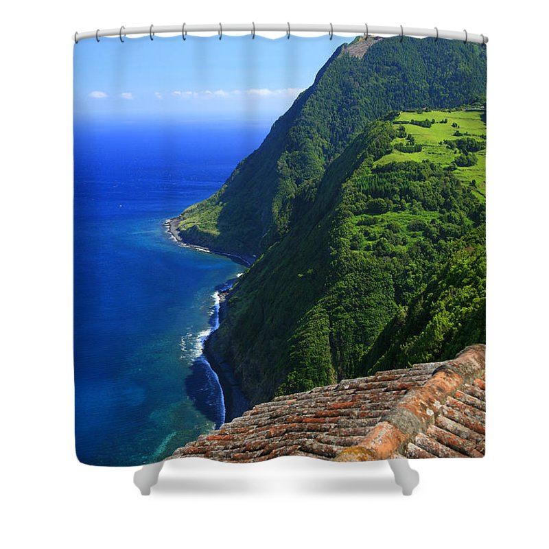 Nordeste Shower Curtain featuring the photograph Green Island by Gaspar Avila