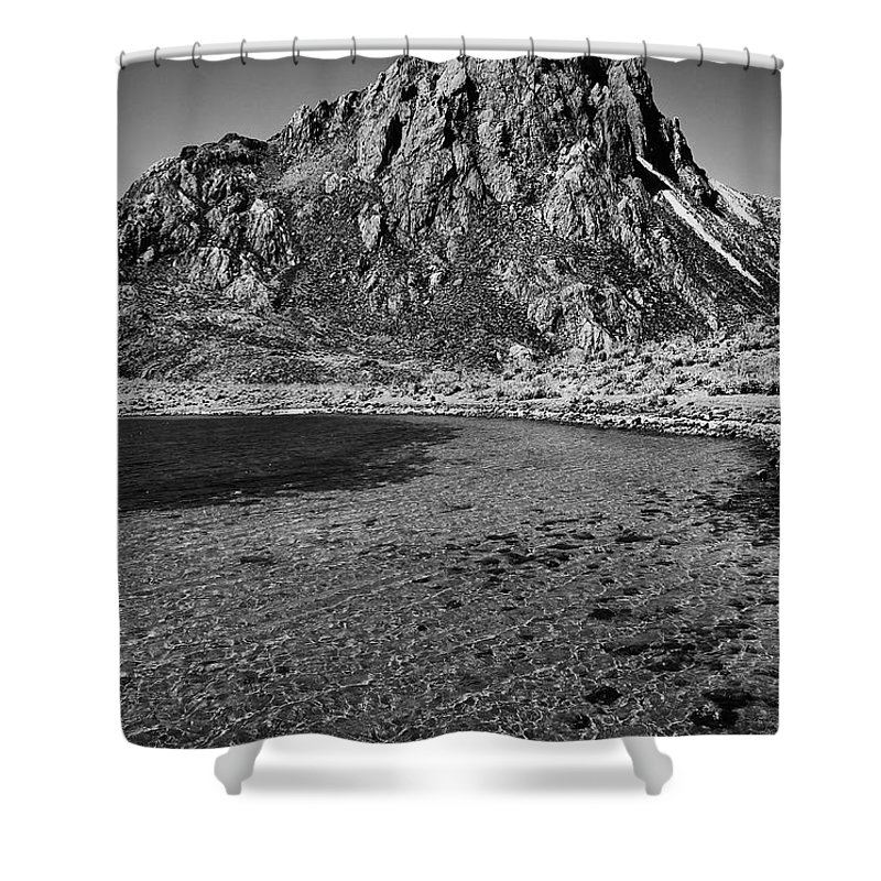 Mountain Shower Curtain featuring the photograph Green Lake by Galeria Trompiz