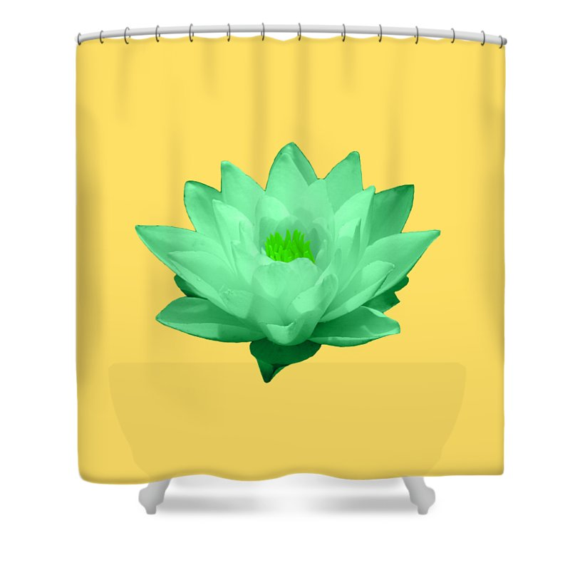 Green Shower Curtain featuring the photograph Green Lily Blossom by Shane Bechler