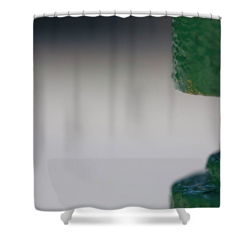Hydrant Shower Curtain featuring the photograph Green Neck by Walter Murdock