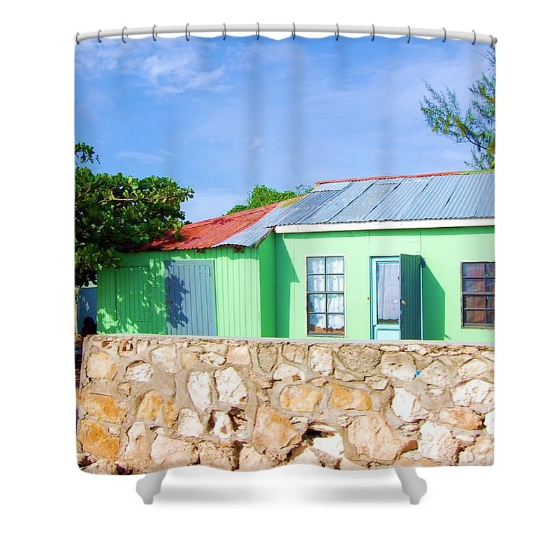 House Shower Curtain featuring the photograph Green Peace by Debbi Granruth