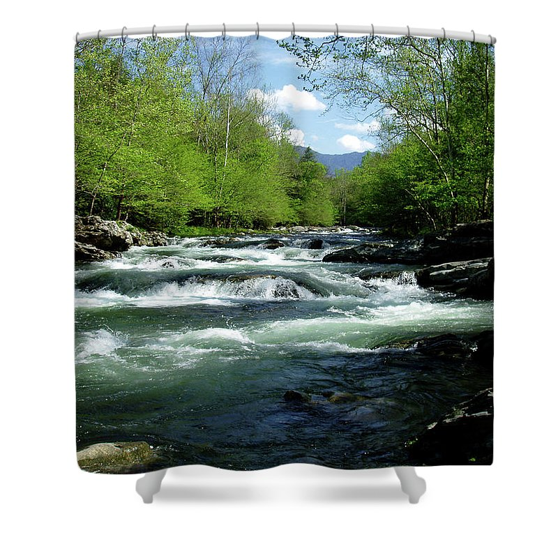 River Shower Curtain featuring the photograph Greenbrier River Scene by Nancy Mueller