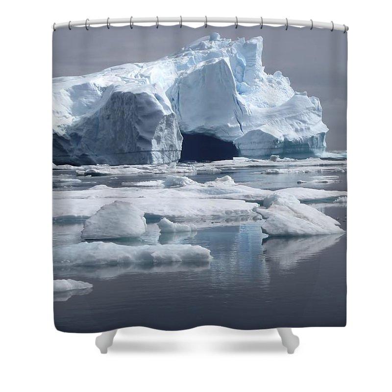 Nature Shower Curtain featuring the photograph Greenland's Icebergs by Karen Jensen