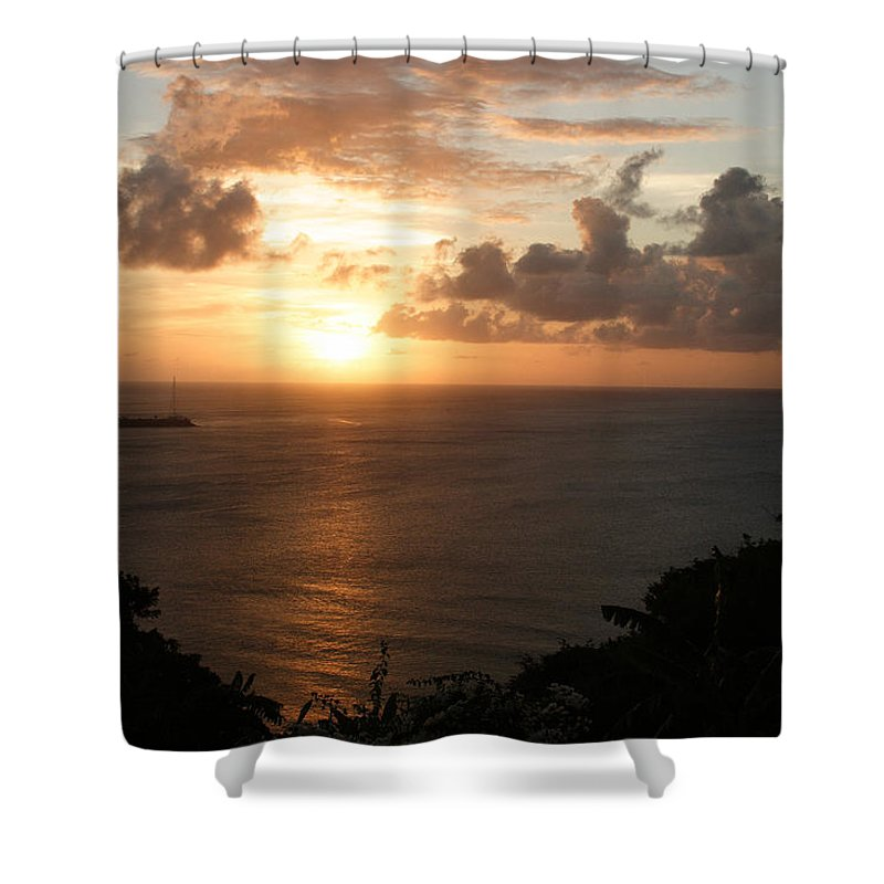Grenada Shower Curtain featuring the photograph Grenadian Sunset I by Jean Macaluso