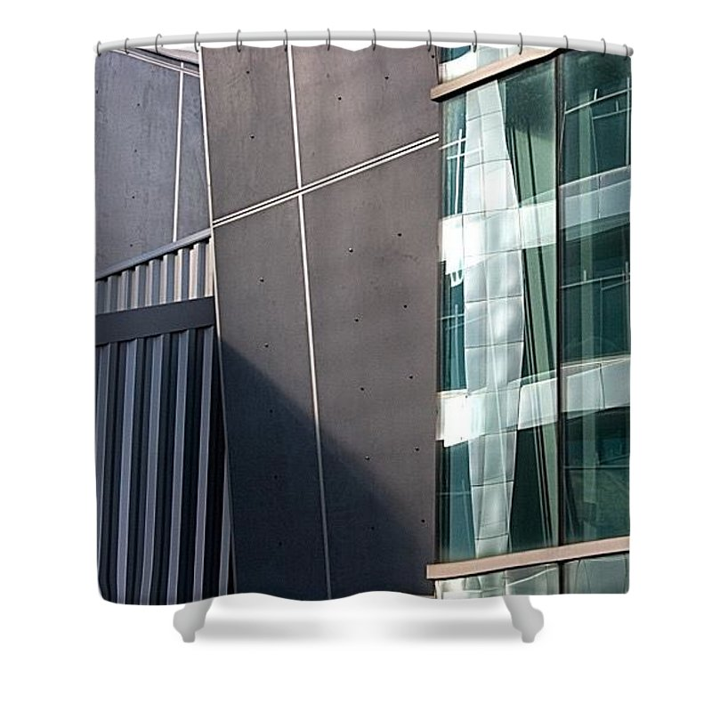 Grey And Green Shower Curtain For Sale By Janis Kirstein