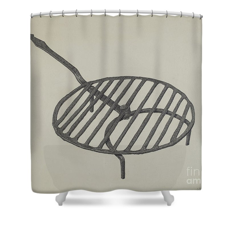 Shower Curtain featuring the drawing Gridiron by Salvatore Borrazzo