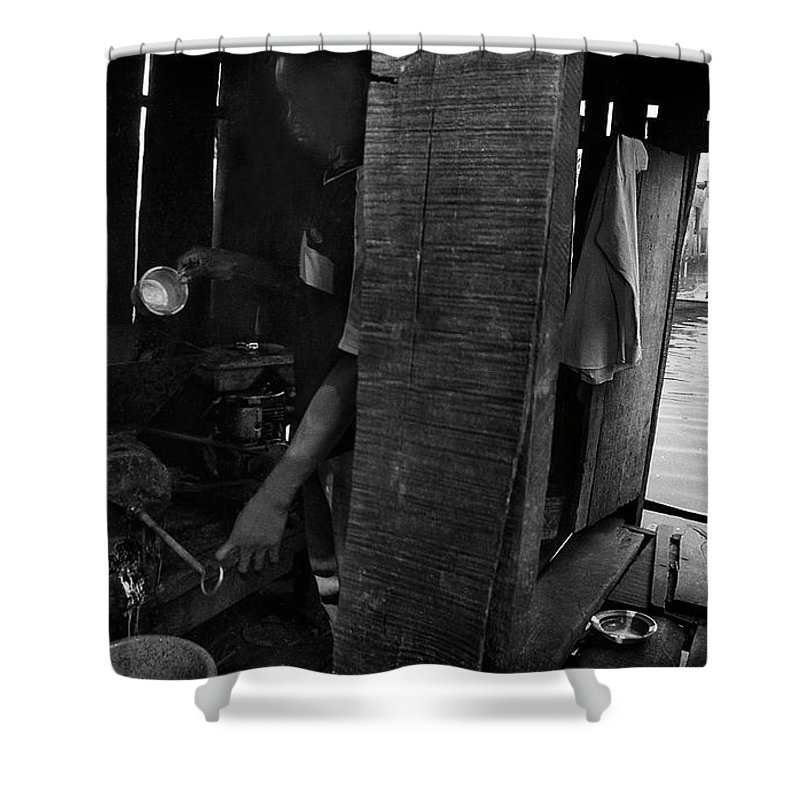 Shower Curtain featuring the photograph A Lurking Pepper-grinder by Muyiwa OSIFUYE
