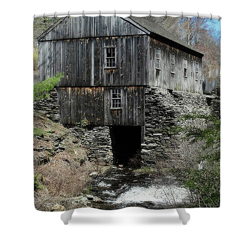 Grist Mill Shower Curtain featuring the photograph Grist Mill At Moore State Park by Bill Dussault