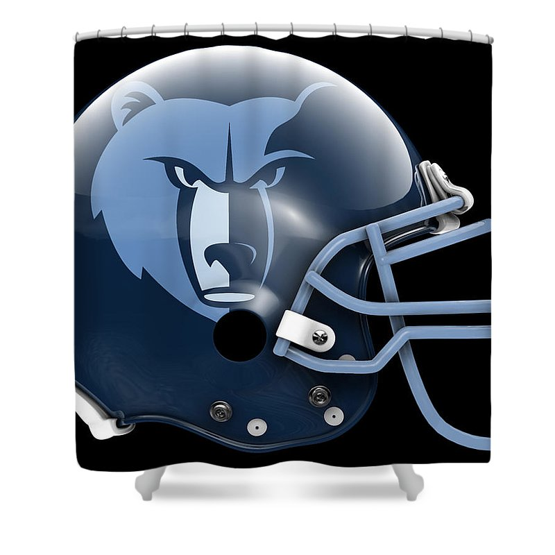Grizzlies Shower Curtain Featuring The Painting What If Its Football By Joe Hamilton