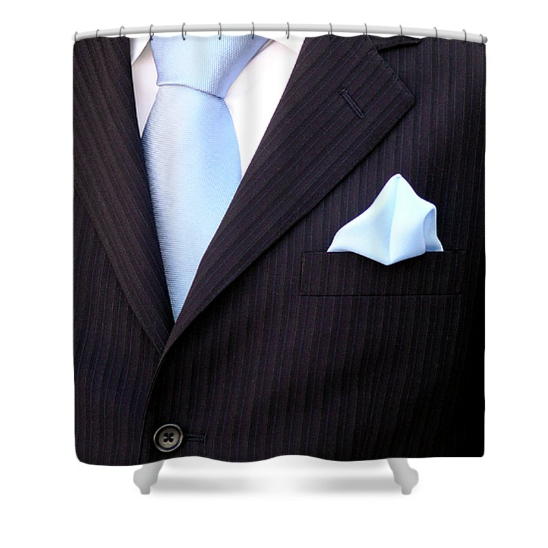Arms Shower Curtain featuring the photograph Groom's Torso by Carlos Caetano