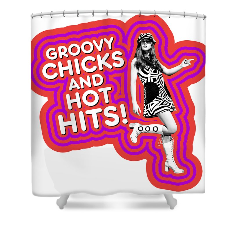 Groovy Chicks And Hot Hits Shower Curtain For Sale By David Richardson