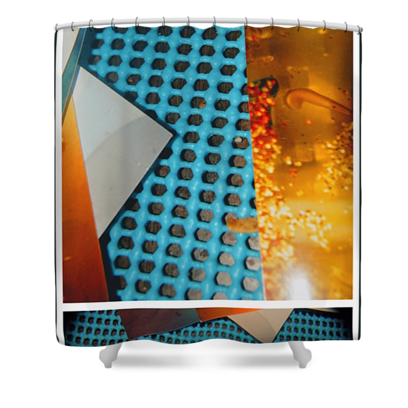 Abstract Shower Curtain featuring the photograph Ground Brown by Alwyn Glasgow