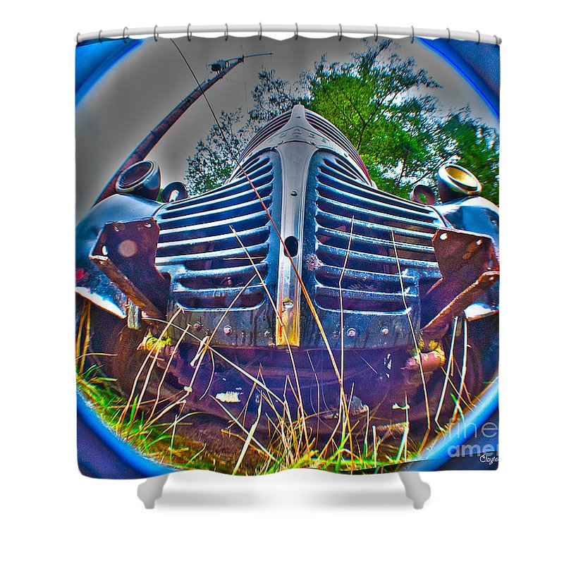 Art Shower Curtain featuring the photograph Growl by Clayton Bruster