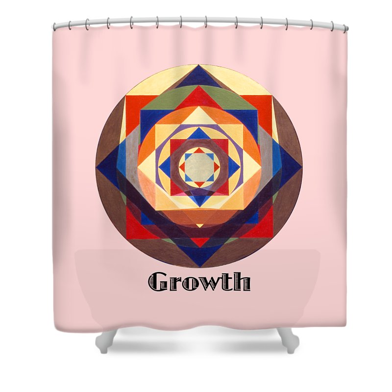 Painting Shower Curtain featuring the painting Growth text by Michael Bellon