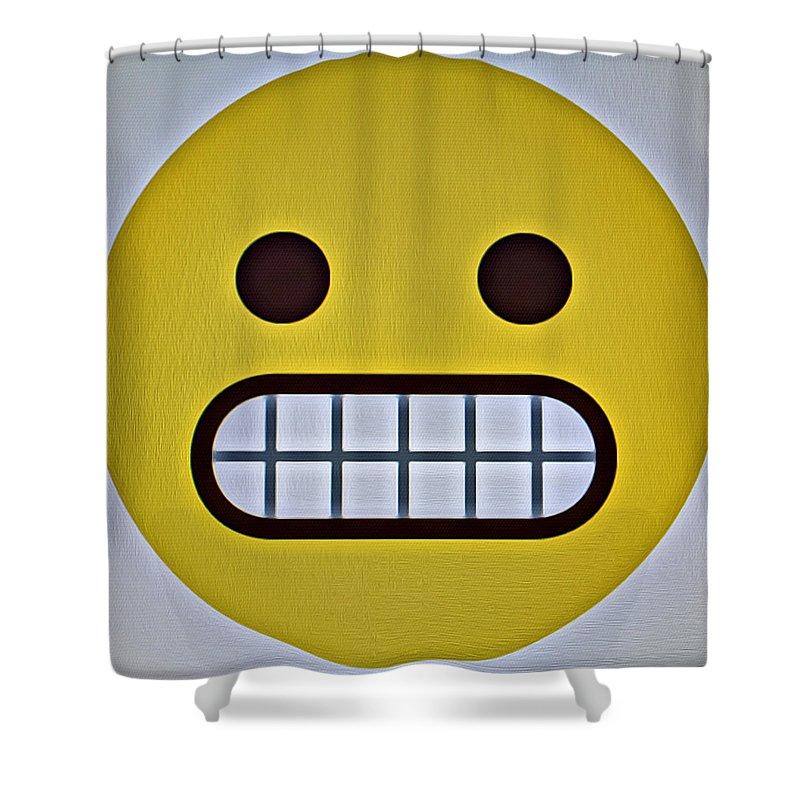 Emoji Shower Curtain Featuring The Photograph Grrrr Face By Modern Art