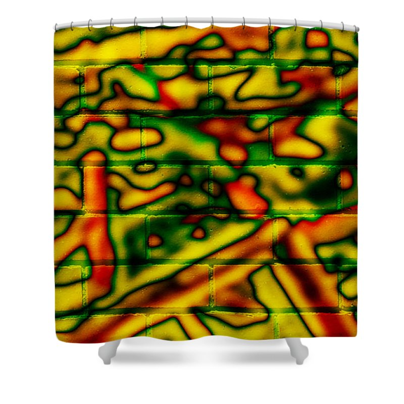 Digital Shower Curtain featuring the photograph Grunge Graffiti by Phill Petrovic