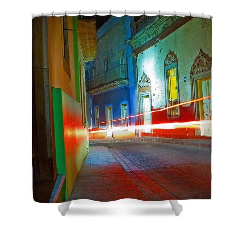 Shadow Shower Curtain featuring the photograph Guanajuato Night by Skip Hunt