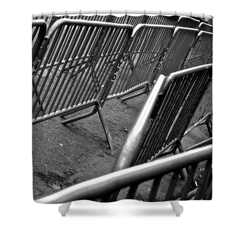 Black And White Shower Curtain featuring the photograph Guard by Joanna Seivard