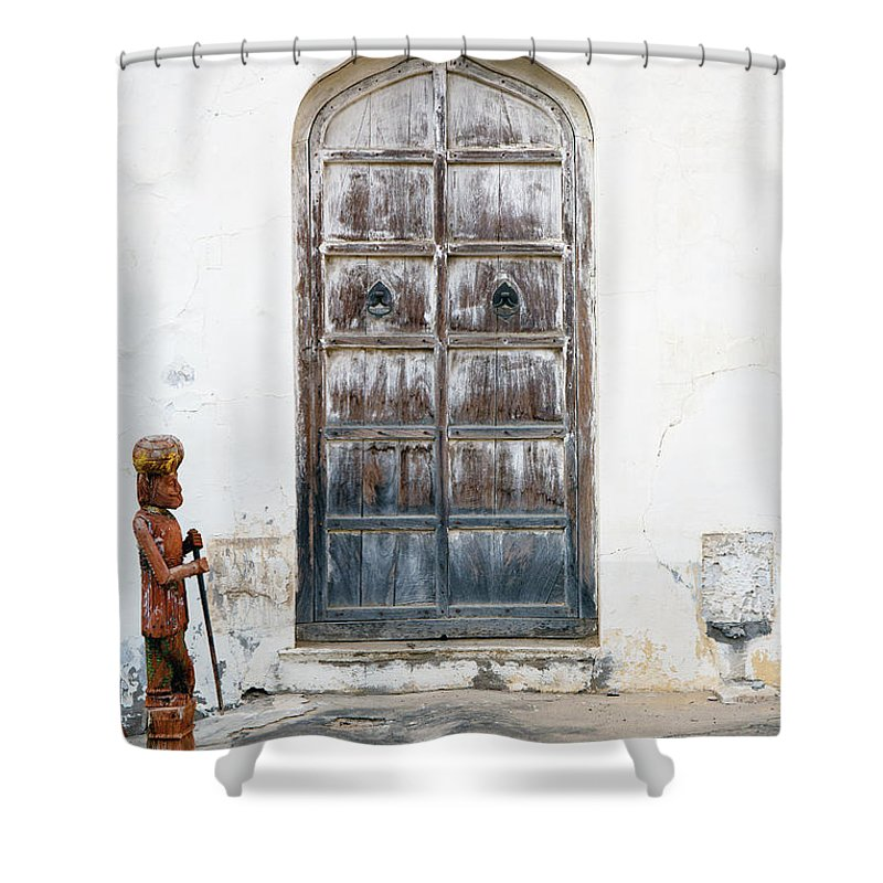 Guard Shower Curtain featuring the photograph Guard by Karma Boyer