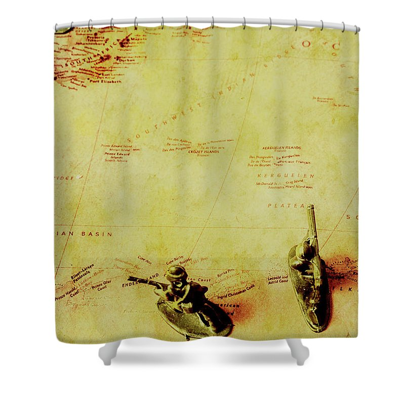 German Shower Curtain featuring the photograph Guarding Histories Untold by Jorgo Photography - Wall Art Gallery