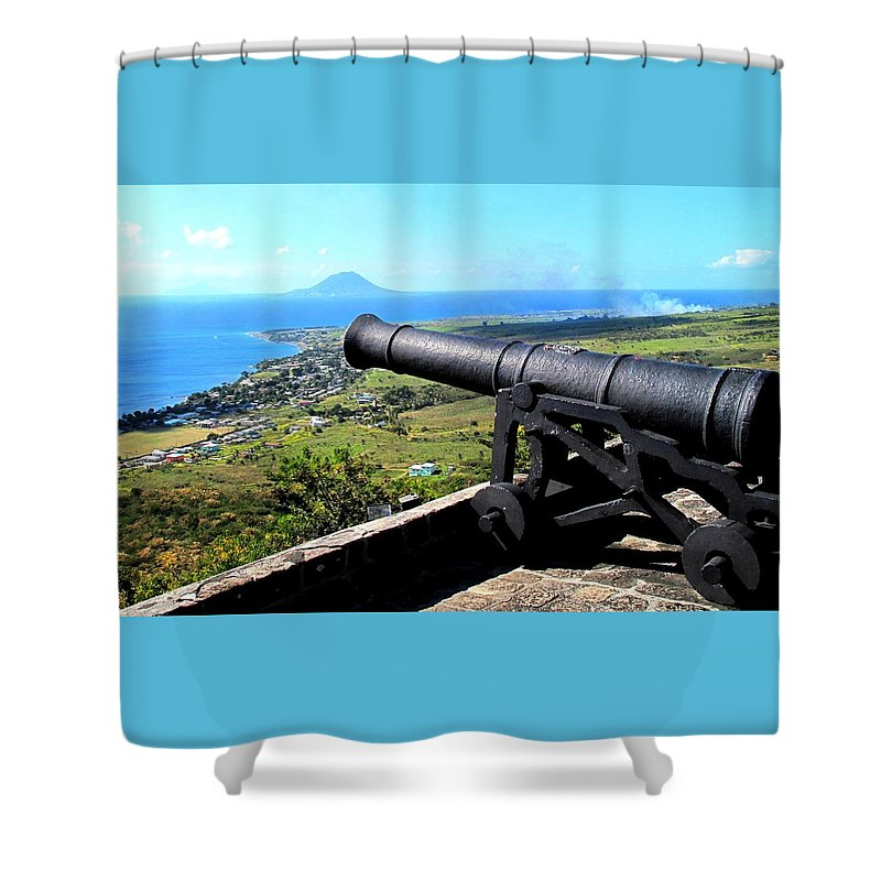 Brimstone Shower Curtain featuring the photograph Guarding The Channel by Ian MacDonald