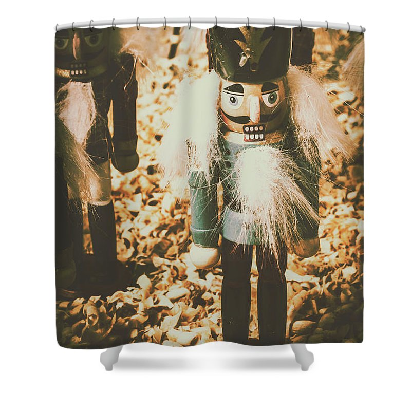 Nutcrackers Shower Curtain featuring the photograph Guards Of Nutcracker Way by Jorgo Photography - Wall Art Gallery