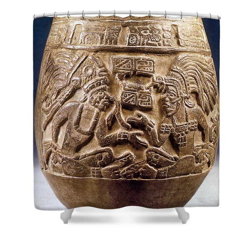 Guatemala Mayan Vase Shower Curtain For Sale By Granger