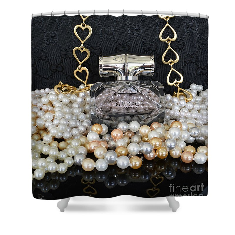 Gucci Bamboo 2 Shower Curtain For Sale By To Tam Gerwe
