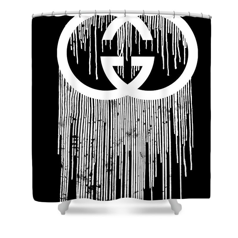 Gucci Dripping Black Shower Curtain For Sale By Del Art