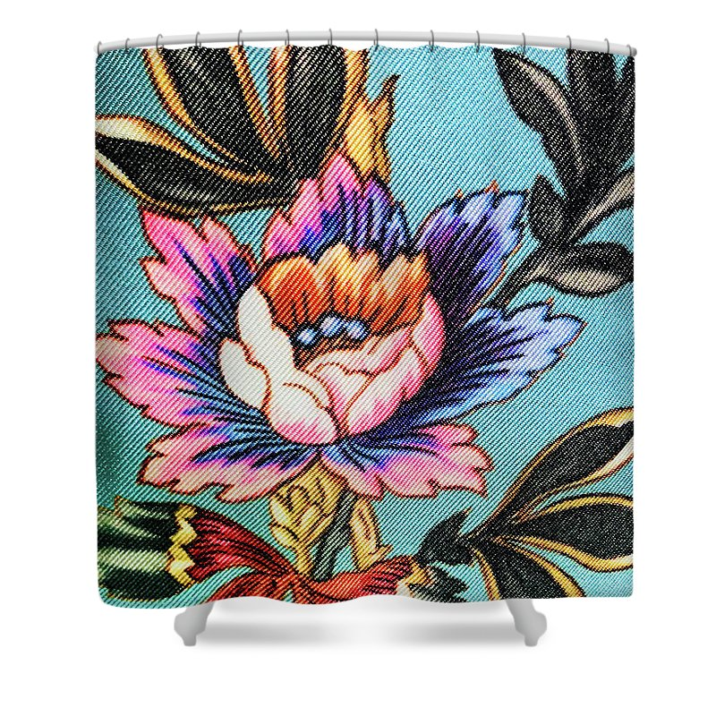 Shower Curtain featuring the photograph Garden Flower by Ceil Diskin