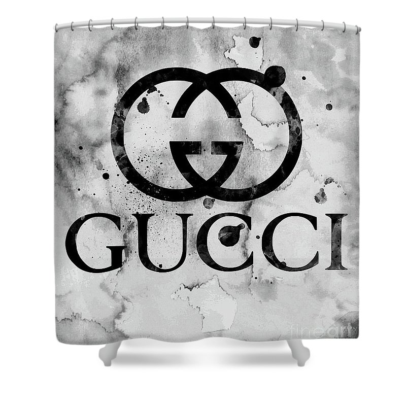 3b557c73f7a Gucci Logo Black 1 Shower Curtain for Sale by Del Art
