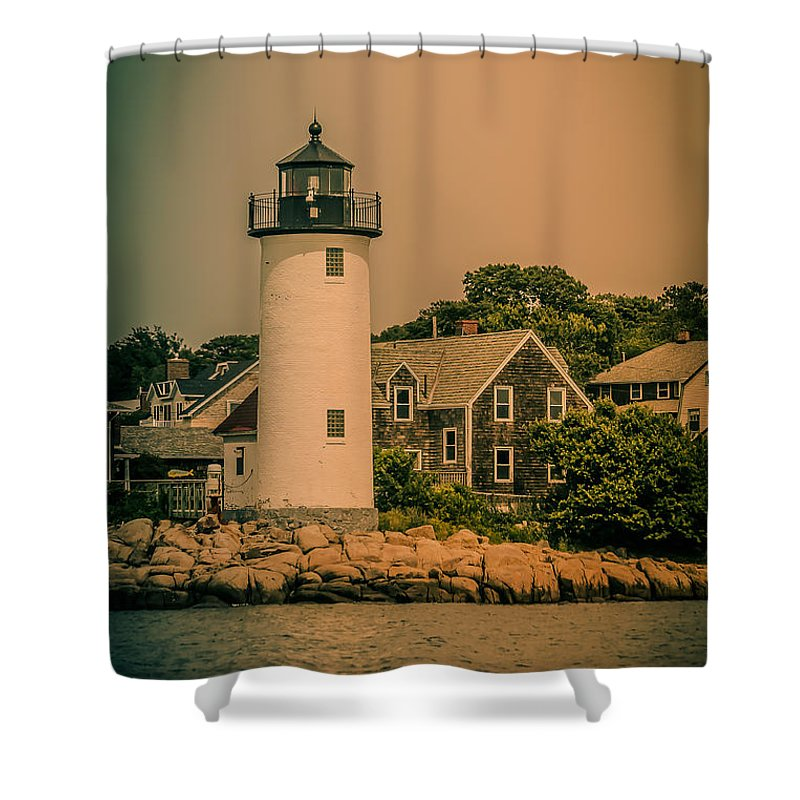 Nautical Shower Curtain featuring the photograph Guidance 2 by Claudia M Photography