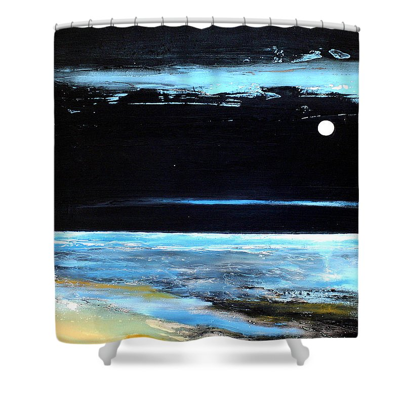 Landscape Shower Curtain featuring the painting Guiding Light by Toni Grote