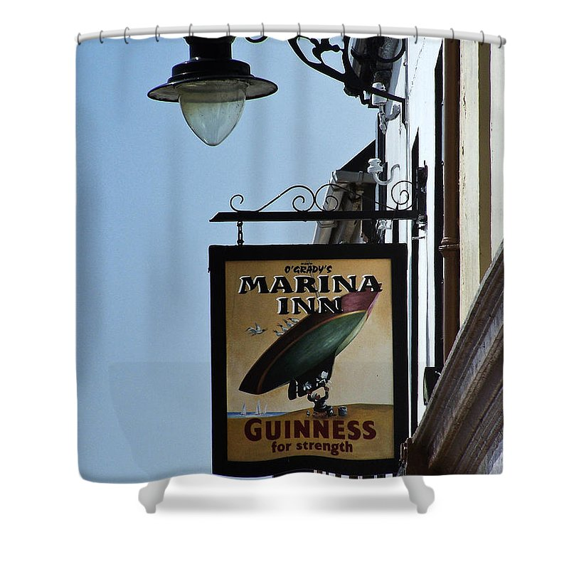 Irish Shower Curtain featuring the photograph Guinness For Strength Dingle Ireland by Teresa Mucha