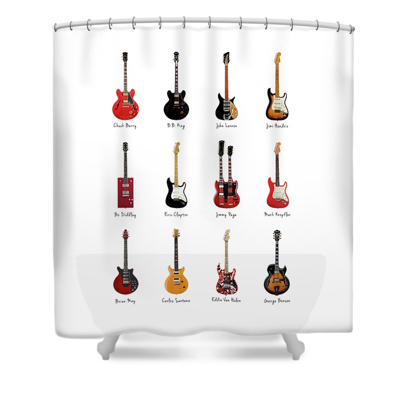 Jimmy Page Photographs Shower Curtains