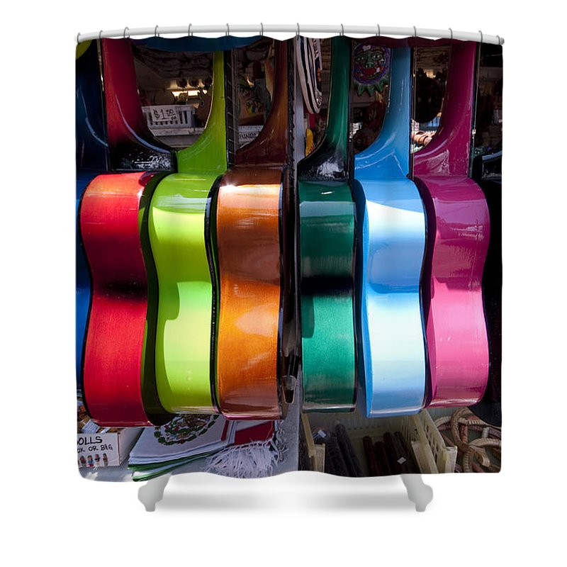 Guitars Shower Curtain featuring the photograph Guitars by Mike Herdering