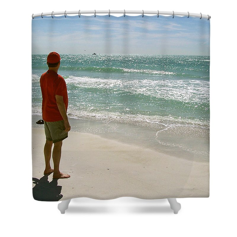 Nature Shower Curtain featuring the photograph Gulf Dreams by Peg Urban